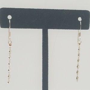 Jewelry - Sterling Silver Twisted Dangle Earrings